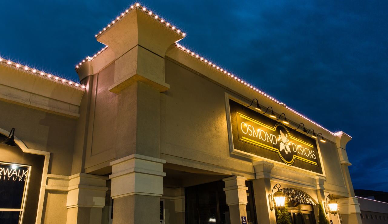 Illumination fx inc commercial lighting our lights when off are virtually undetectable during the day but transform into vibrant light at night our light system can set the tone for any promotion aloadofball Choice Image